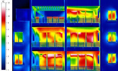 Thermografie macht Wärmeverluste sichtbar
